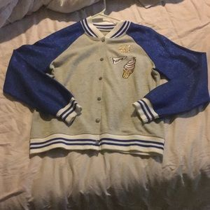Justice long sleeve snap girls 16